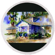 Welcome Window Round Beach Towel