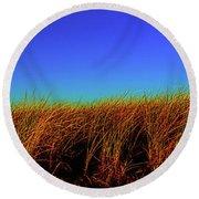 Wells Rachel Carson Wildlife Refuge Grass And Dunes Round Beach Towel