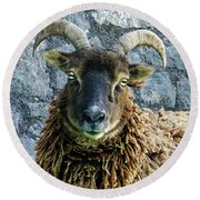 Welsh Ram Round Beach Towel