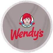 Wendys T-shirt Round Beach Towel