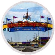Were Dreams Come True Round Beach Towel