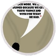 We're Flawed - Mad Men Poster Don Draper Quote Round Beach Towel