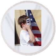 We're The Kids In America Round Beach Towel