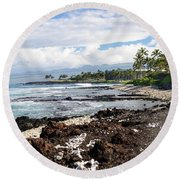 West Coast North Round Beach Towel