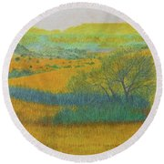 West Dakota Reverie Round Beach Towel