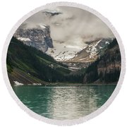 West End Of Lake Louise Round Beach Towel