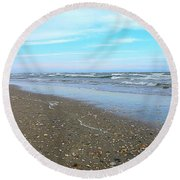 West End Seashells Round Beach Towel