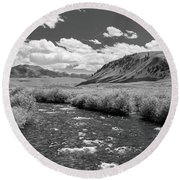 West Fork, Big Lost River Round Beach Towel