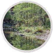 West Fork Reflection 8065-101817-1 Round Beach Towel