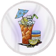 West Highland Iced Tea Round Beach Towel