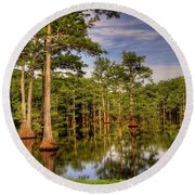 West Monroe Bayou Round Beach Towel