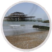 West Pier Round Beach Towel