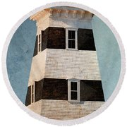 West Point Lighthouse 8 Round Beach Towel