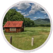 West Side Road North Conway New Hampshire Round Beach Towel by Brian MacLean