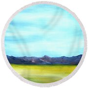 West Texas Landscape Round Beach Towel