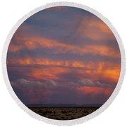 West Texas Sunset #1 Round Beach Towel