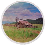 Westcliff Colorado Round Beach Towel by Patricia Greer