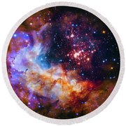 Westerlund 2 Round Beach Towel by Paul W Faust - Impressions of Light