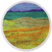 Western Edge Prairie Dream Round Beach Towel