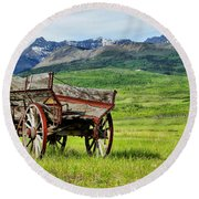 Western Exposure Round Beach Towel