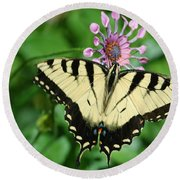 Western Tiger Swallowtail Round Beach Towel