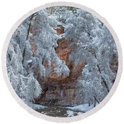 Round Beach Towel featuring the photograph Westfork Charms Me by Tom Kelly