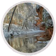 Round Beach Towel featuring the photograph Westfork's Beauty by Tom Kelly