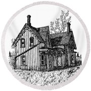 Westhill House 2 Round Beach Towel