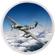 Round Beach Towel featuring the photograph Westland Whirlwind Portrait by Gary Eason