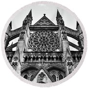 Westminster Abbey London Round Beach Towel