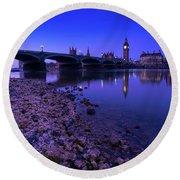 Round Beach Towel featuring the photograph Westminster Bridge London by Mariusz Czajkowski