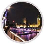 Westminster Embrace Round Beach Towel