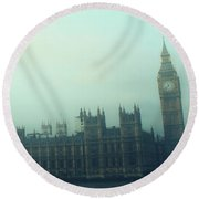 Westminster Fog Round Beach Towel