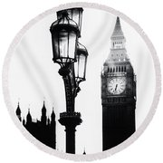 Westminster - London Round Beach Towel by Joana Kruse