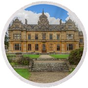 Round Beach Towel featuring the photograph Westonbirt School For Girls by Clare Bambers