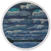 Westport Stratocumulus Virga Round Beach Towel