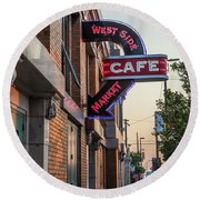 Westsidemarketcafe Round Beach Towel