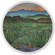 Westward Round Beach Towel