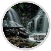 Round Beach Towel featuring the photograph Wet by Russell Pugh