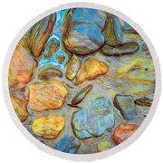 Wet Stones Round Beach Towel