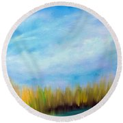 Wetlands Morning Round Beach Towel