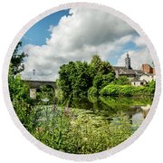 Round Beach Towel featuring the photograph Wetzlar Germany by David Morefield