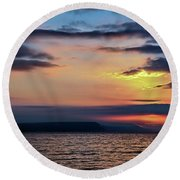 Weymouth Esplanade Sunrise Round Beach Towel