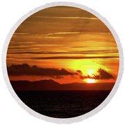 Weymouth Sunrise Round Beach Towel by Stephen Melia