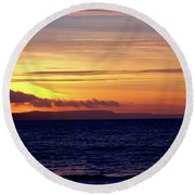 Weymouth To Purbeck Round Beach Towel
