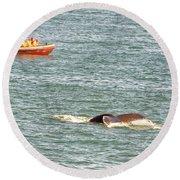 Whale Tail Round Beach Towel