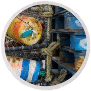 Wharf Stuff Round Beach Towel