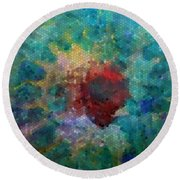 Round Beach Towel featuring the digital art What A Bee Sees by Claire Bull