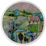 What A Bird Sees Round Beach Towel
