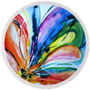 What A Fly Dreams Round Beach Towel by Rory Sagner